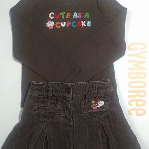 GYMBOREE Top and Skort Set